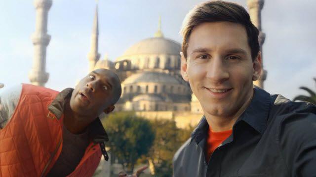 Türk Hava Yolları Reklamında Lionel Messi ile Kobe Bryant Karşı Karşıya