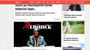 Redhack Sözcü'nün İnternet Sitesini Hackleyerek, Kendi Haberini Yayınladı