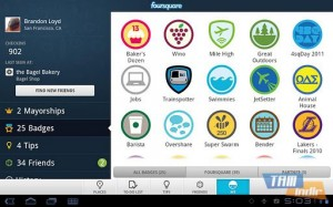 Foursquare for Sony Tablet