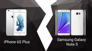 iPhone 6S Plus ve Samsung Galaxy Note 5 Karşılaştırması