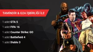 Tamindir - G2A İşbirliği ile GTA 5 ve Sürpriz Oyunlar Kazanın (Sonuçlar Açıklandı)