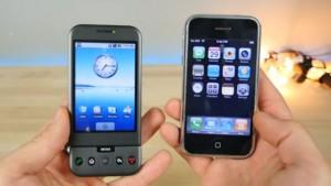İlk iPhone ile İlk Android Telefonun Karşılaştırması