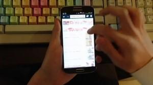 Samsung Galaxy S4 - İnternet Tarayıcısı