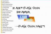 20 Adet Flash Oyun Paketi
