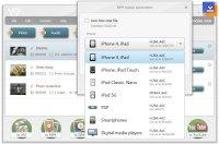 Freemake Video Converter Mobil Ürün Seçim Ekranı