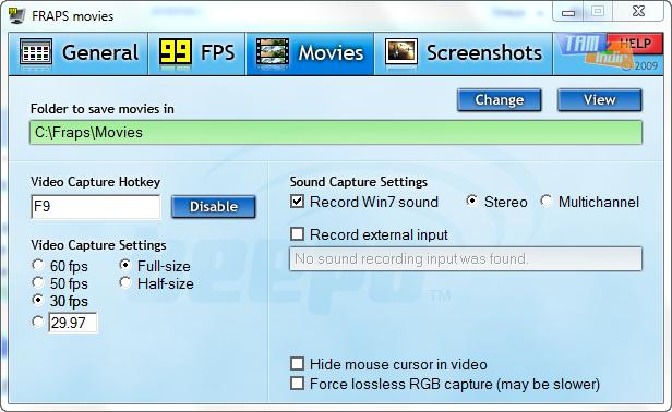 Делаем скриншоты из Игр с помощью FRAPS.
