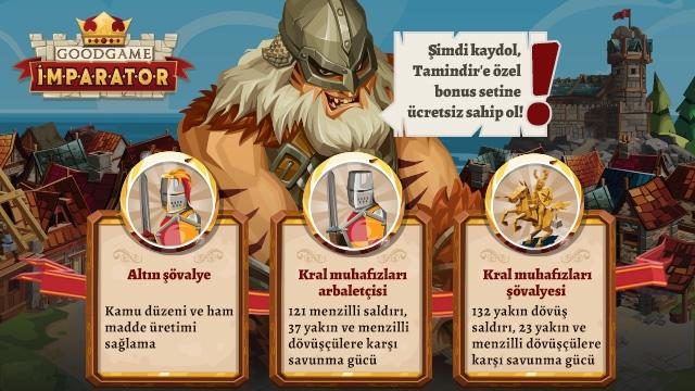 Tamindir'den Goodgame Empire Bonusu