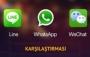 LINE, WeChat ve WhatsApp Karşılaştırması