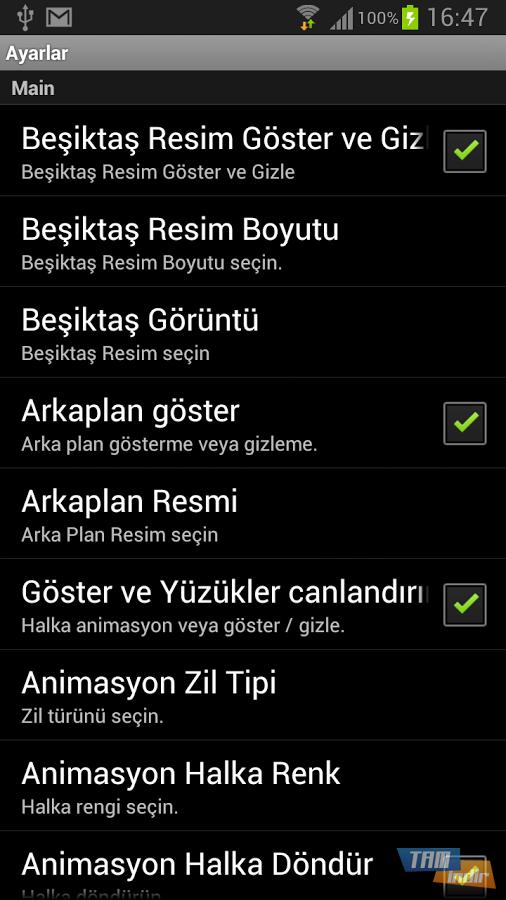 Beşiktaş canlı duvar kağıdı yazıları