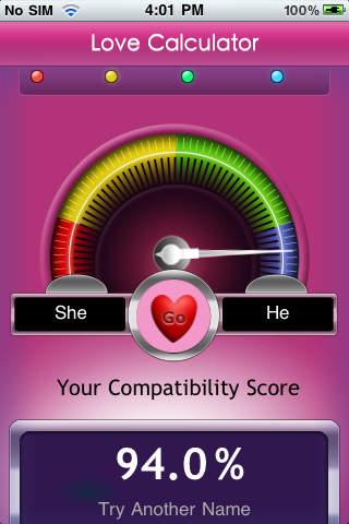 Some facts about the Love Calculator