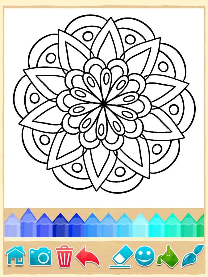Mandala Coloring Pages Indir Android Icin Mandala Boyama
