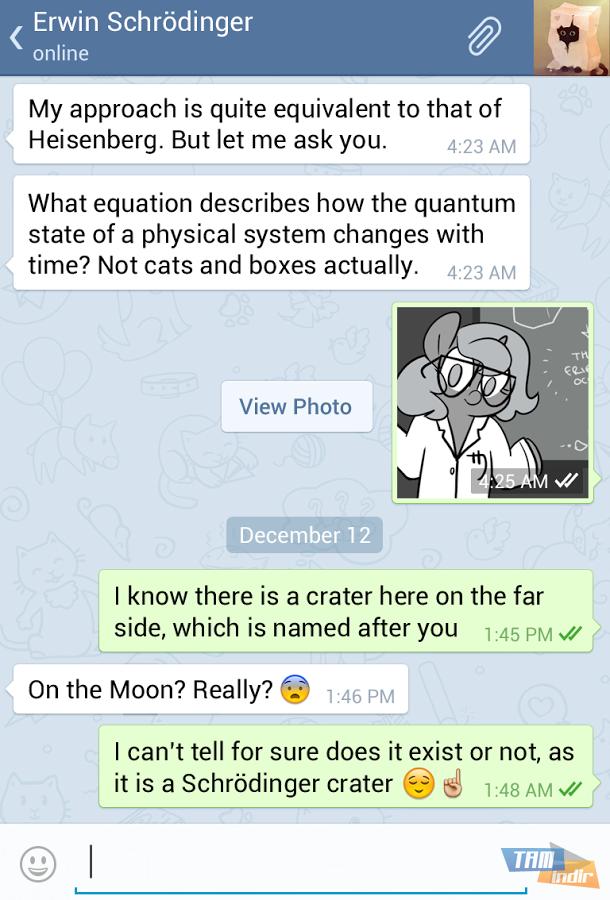 Telegram messenger ekran görüntüleri