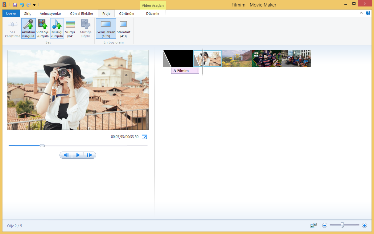 how to make a film with windows movie maker
