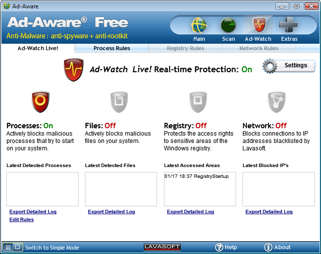 Freeware. Русификатор Ad-Aware Free Antivirus+.
