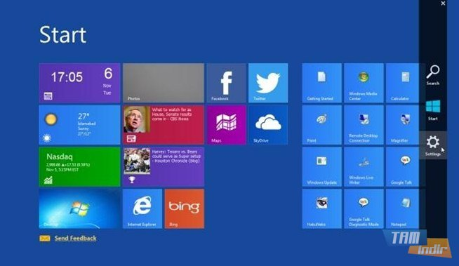 Windows 8 charms bar skin windows 8 charms bar skin ekran goruntusu