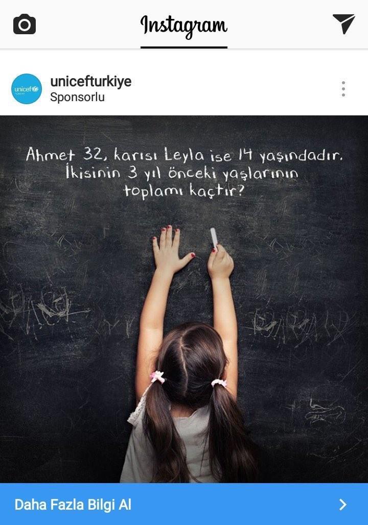 Unicef Türkiye Instagram