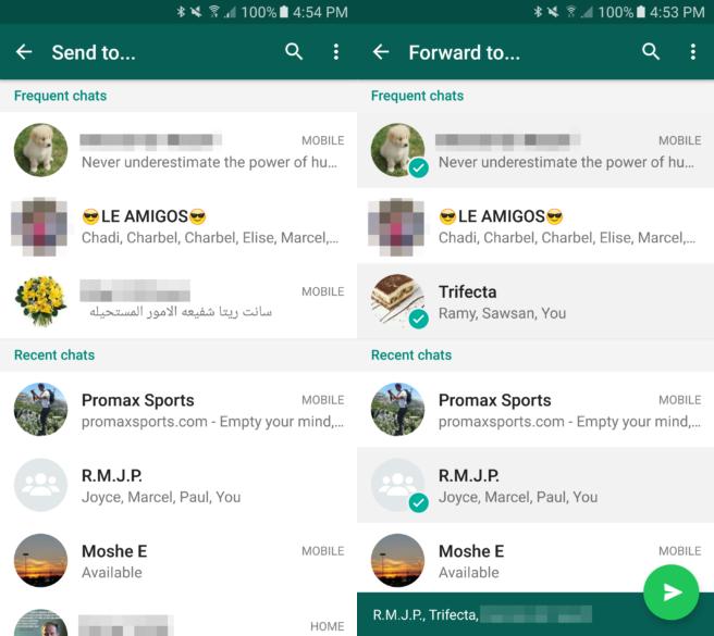 Whatsapp çoklu mesaj