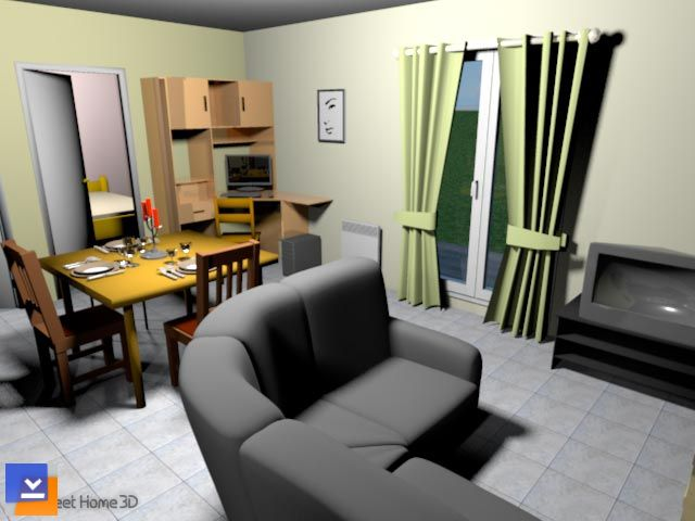 Sweet home 3d ndir cretsiz 3d dekorasyon program for Modele maison sweet home 3d
