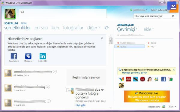 windows live messenger 2011 tamindir Windows Live Messenger Son sürüm 2011 indir