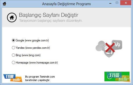 Anasayfa Değiştirme Programı