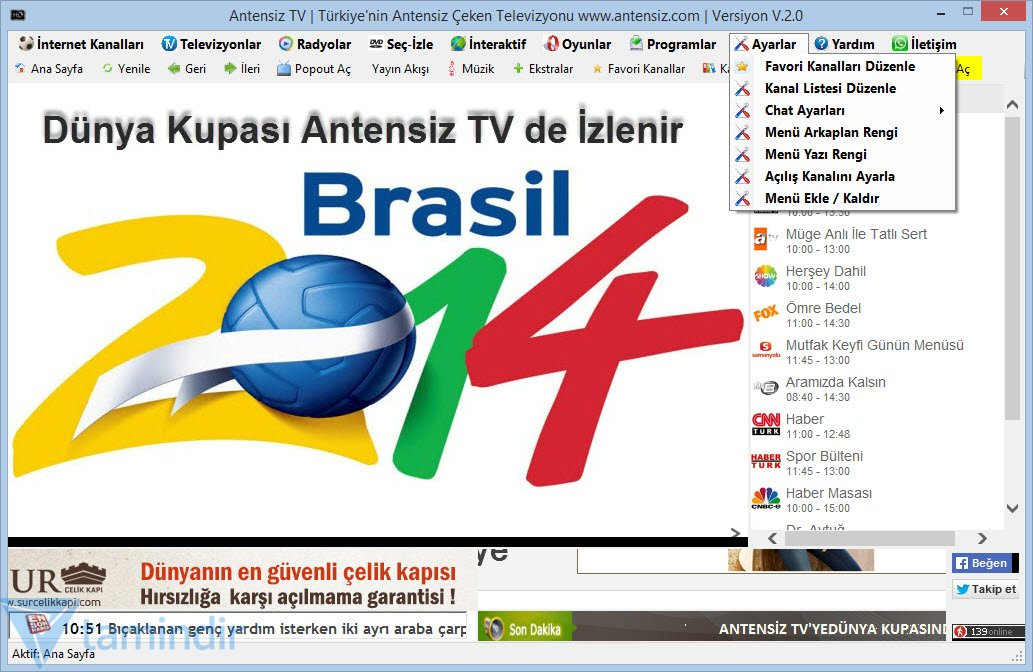 Internet kanallari tv