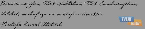 Atatürk el yazısı fontu için yapılan yorumlar 7