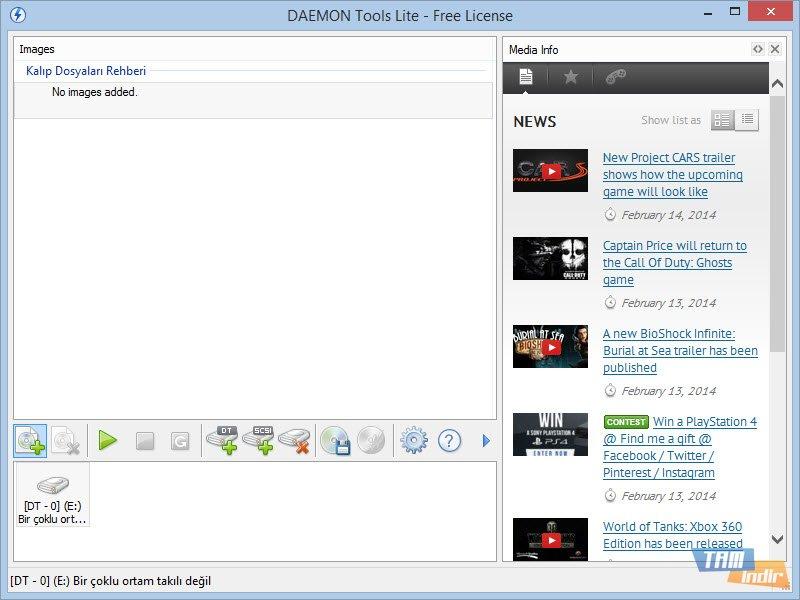 DAEMON Tools Lite İndir - Sanal Disk Oluşturma Programı