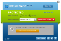Hotspot Shield Grafiksel Arayüz
