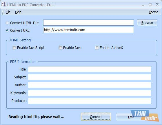Converting pdf to html format