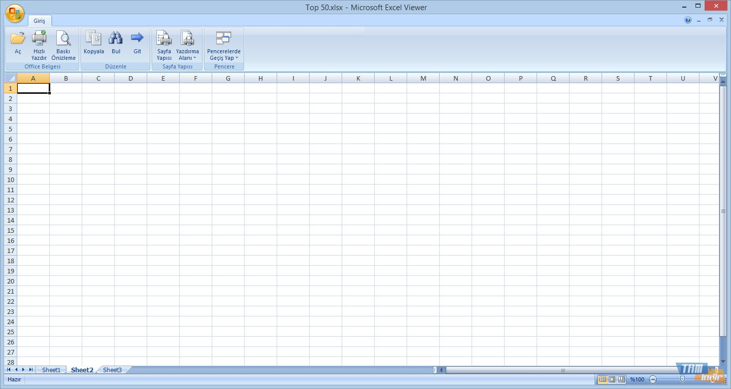 Microsoft Excel Viewer full screenshot
