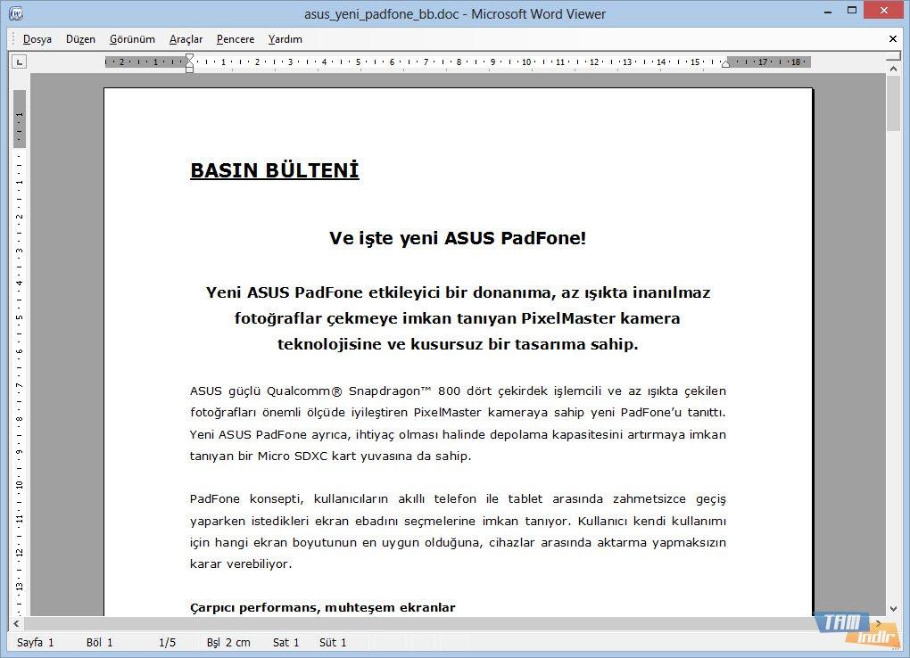 Microsoft Word Viewer 2003 İndir - Microsoft Word 2003
