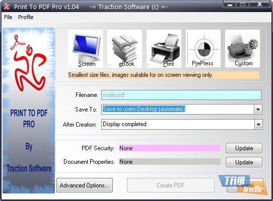 printt o pdf windows 7