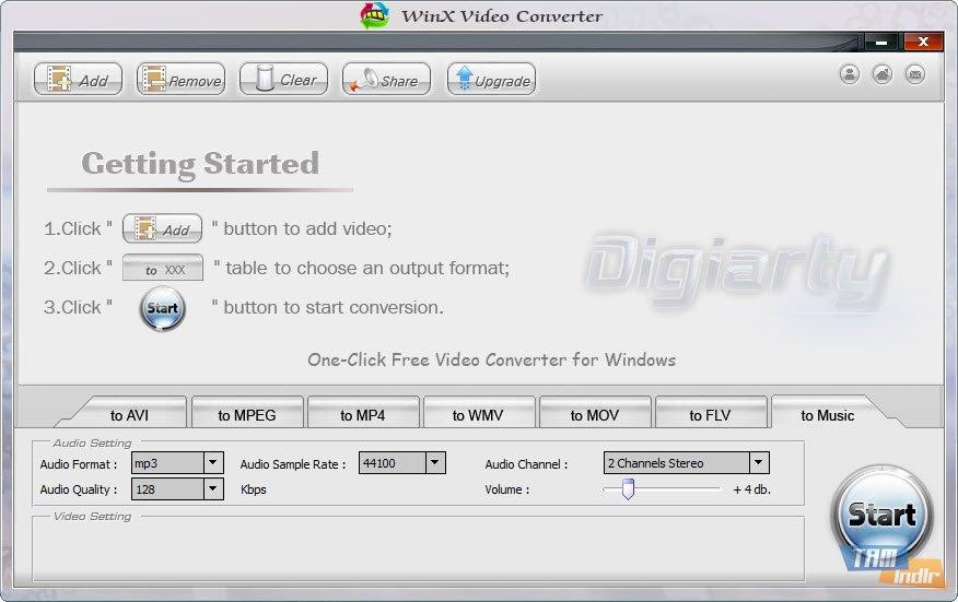 Next screenshot. WinX Free FLV to AVI Converter 4.1  Main window.