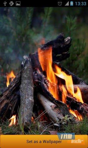 Ateş canlı duvar kağıdı ekran görüntüleri