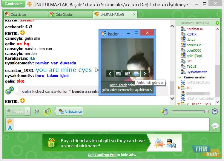 Camfrog Video Chat İndir - Görüntülü Chat Programı - Tamindir: http://www.tamindir.com/camfrog-video-chat/