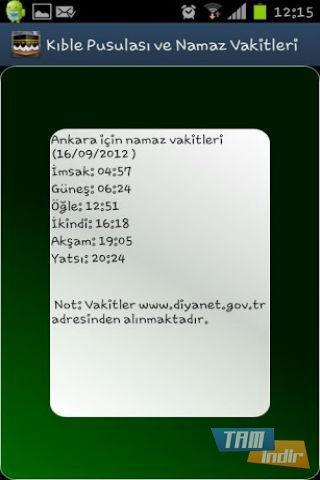 Kıble Pusulası Namaz Vakitleri İndir - Android İçin Kıble ...
