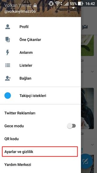 iphone twitter takip istegi