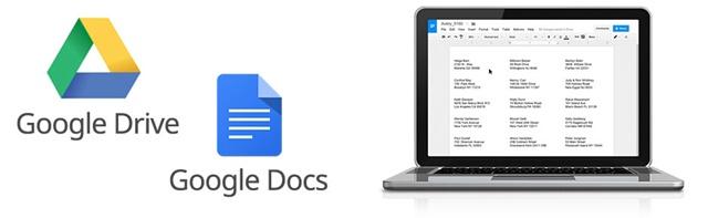 google dokümanlar ve drive