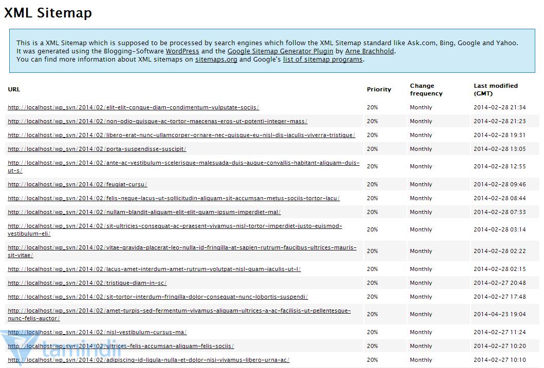 google xml sitemaps İndir wordpress için site haritası oluşturma