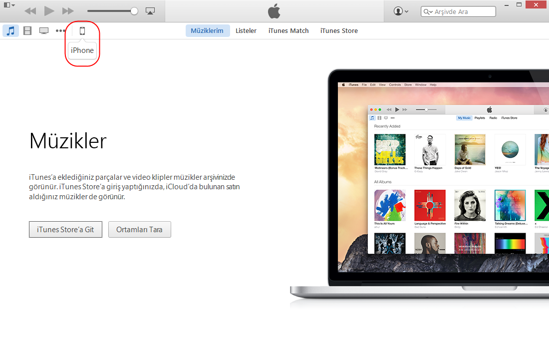 iTunes'tan Outlook Hesabınıza Senkronizasyon
