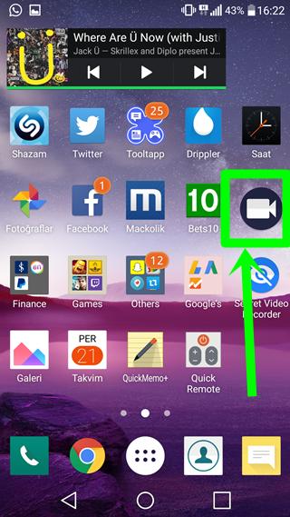Android Gizli Video Çekme