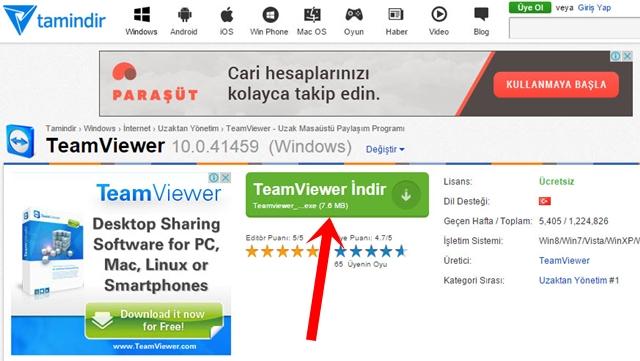 Bilgisayarınızla Başka Bir Bilgisayara Bağlanma - TeamViewer İndir