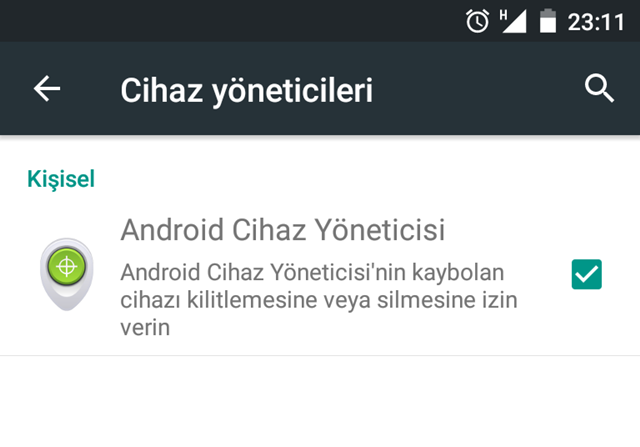 android cihazda yer bulma