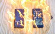 Galaxy S8 Plus ve iPhone 7 Plus'ı Yakarsanız Hangisi Sağlam Çıkar?