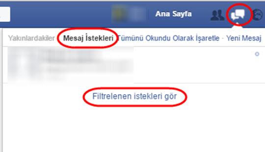 facebook ta başkasının mesajlarını nasıl görebilirim