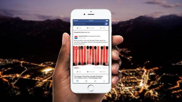 Facebook Live Audio ile sesli canlı yayınlara başlıyor