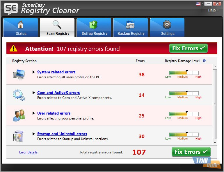 easy cleaner registry: