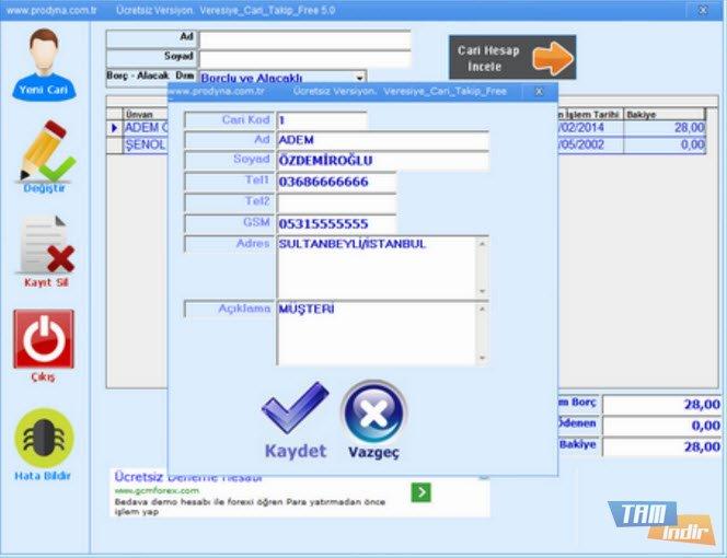Ücretsiz Müşteri Takip Programı Full | Bilsist Yazılım Hizmetleri