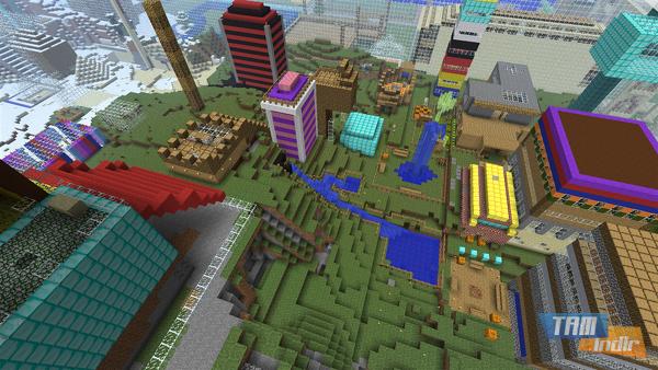 Minecraft'ta bir Şehir