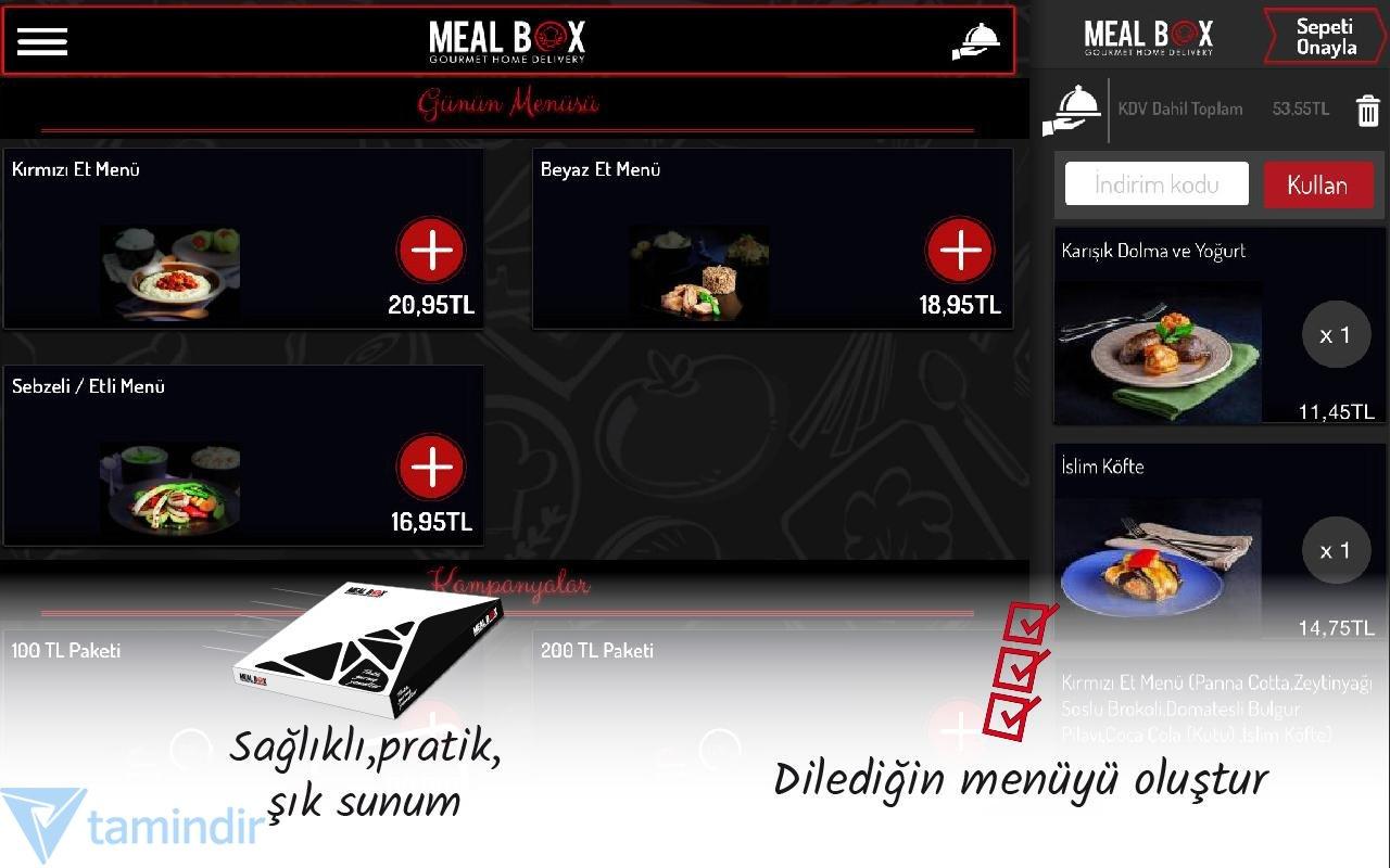 Meal Box Indir Android Için Yemek Sipariş Uygulaması Tamindir